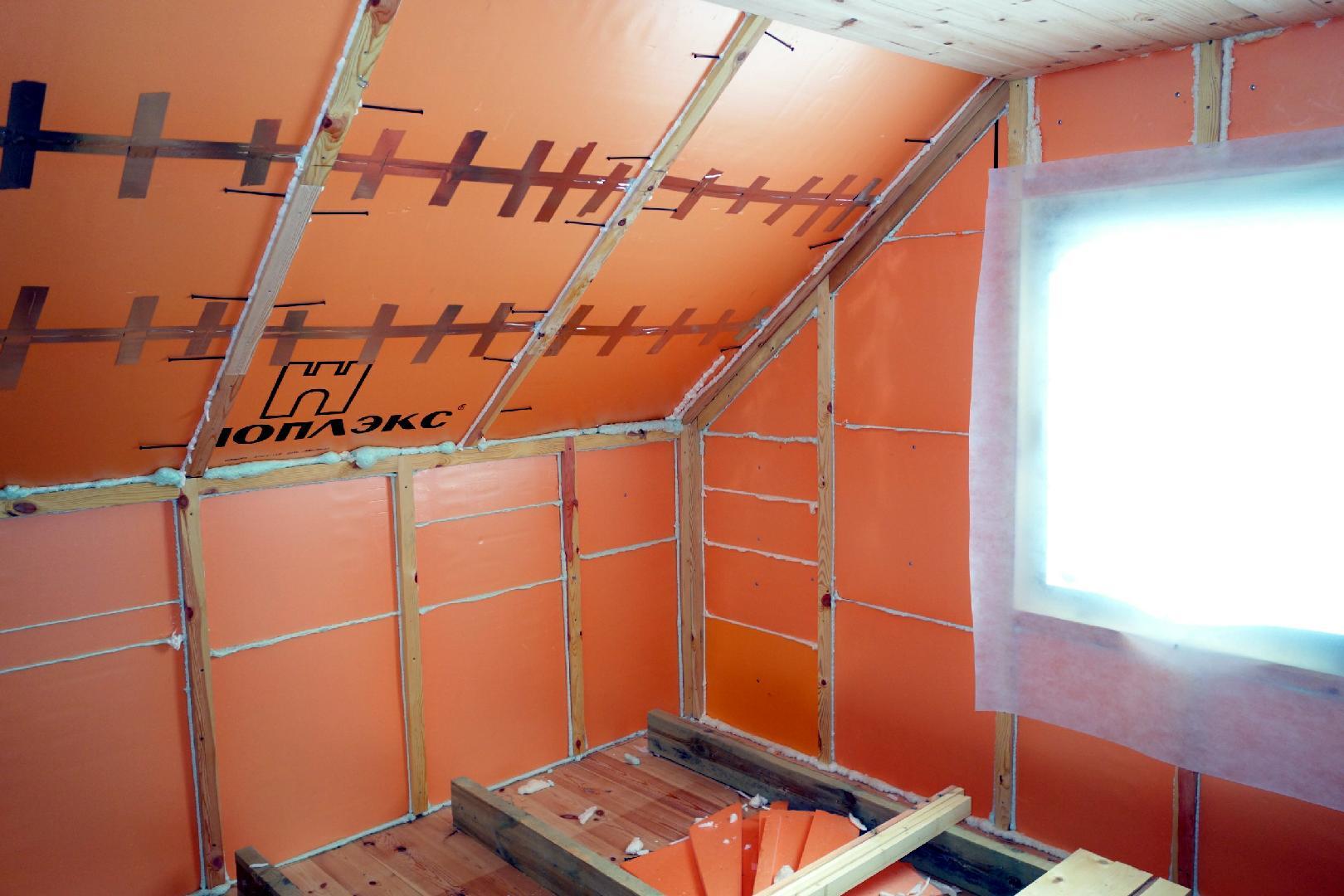Пеноплекс внутри дома