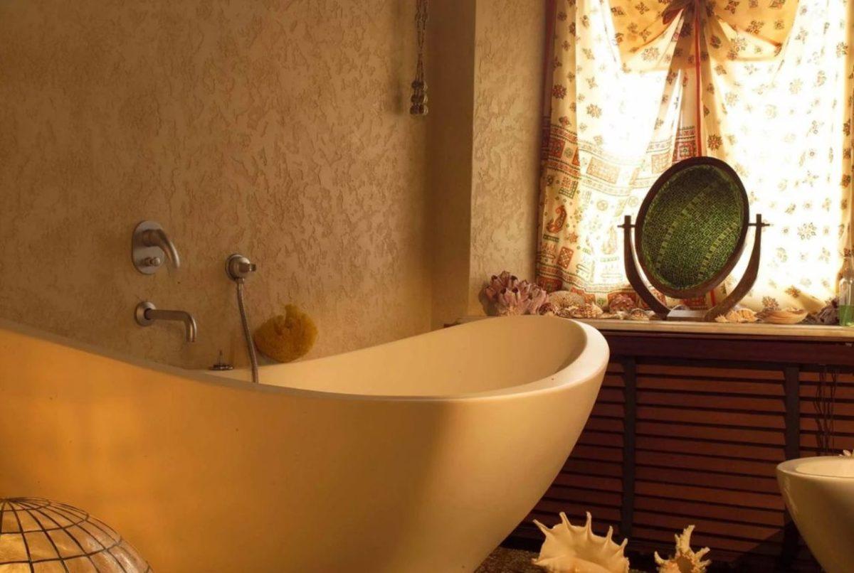Фото штукатурки в ванной