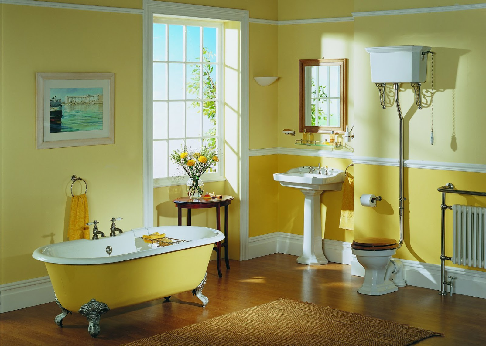 Водоэмульсионная краска в ванной