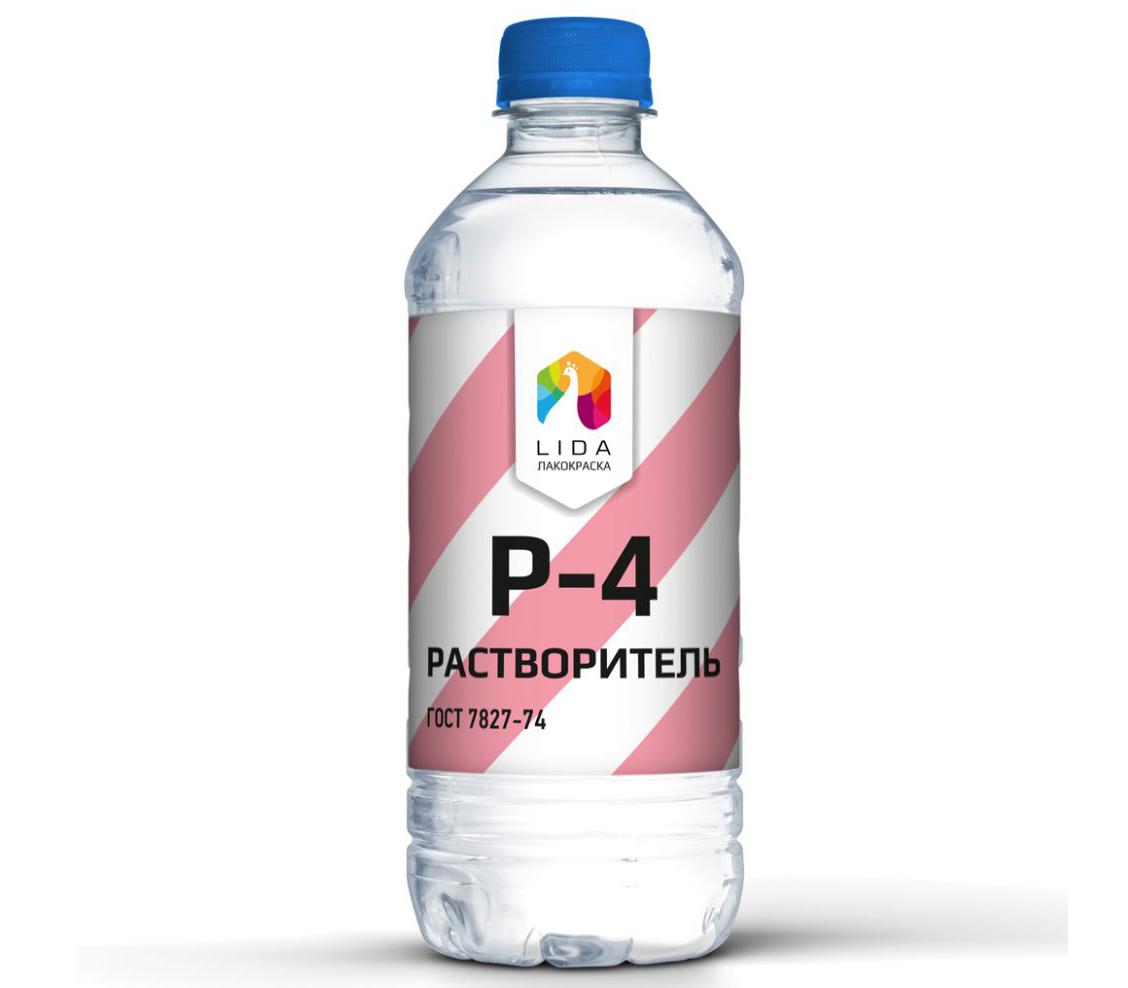 Растворитель Р4 в бутылке
