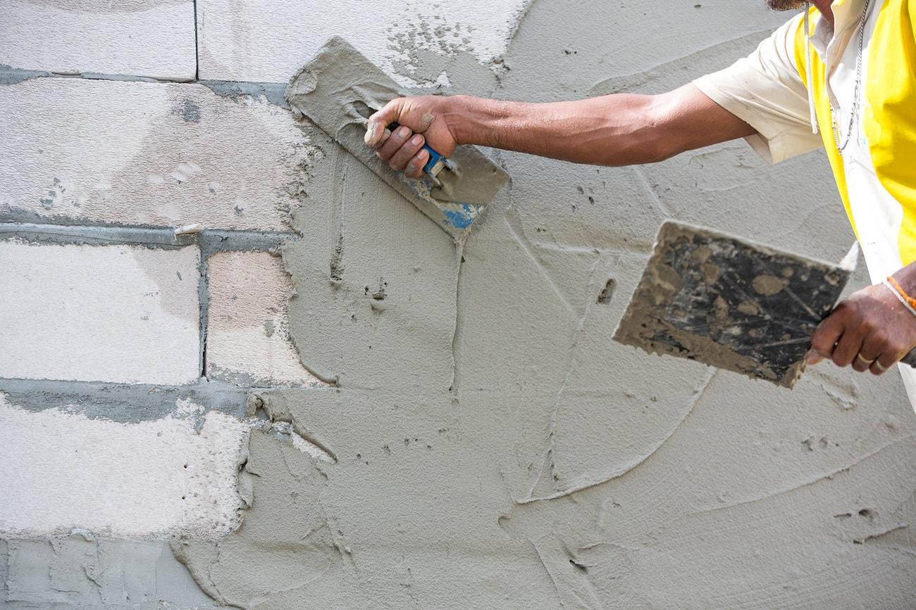 Фото цементной штукатурки