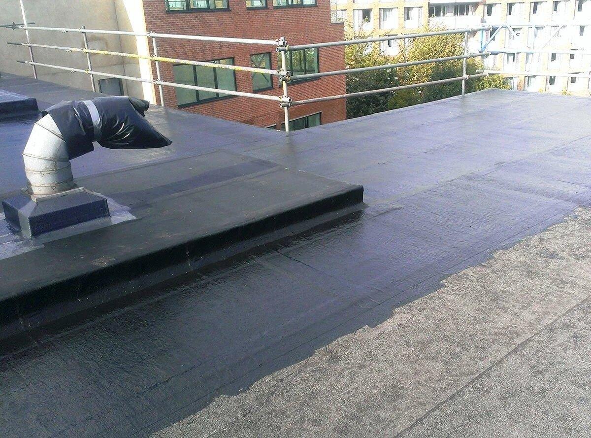 Крыша с гидроизоляцией