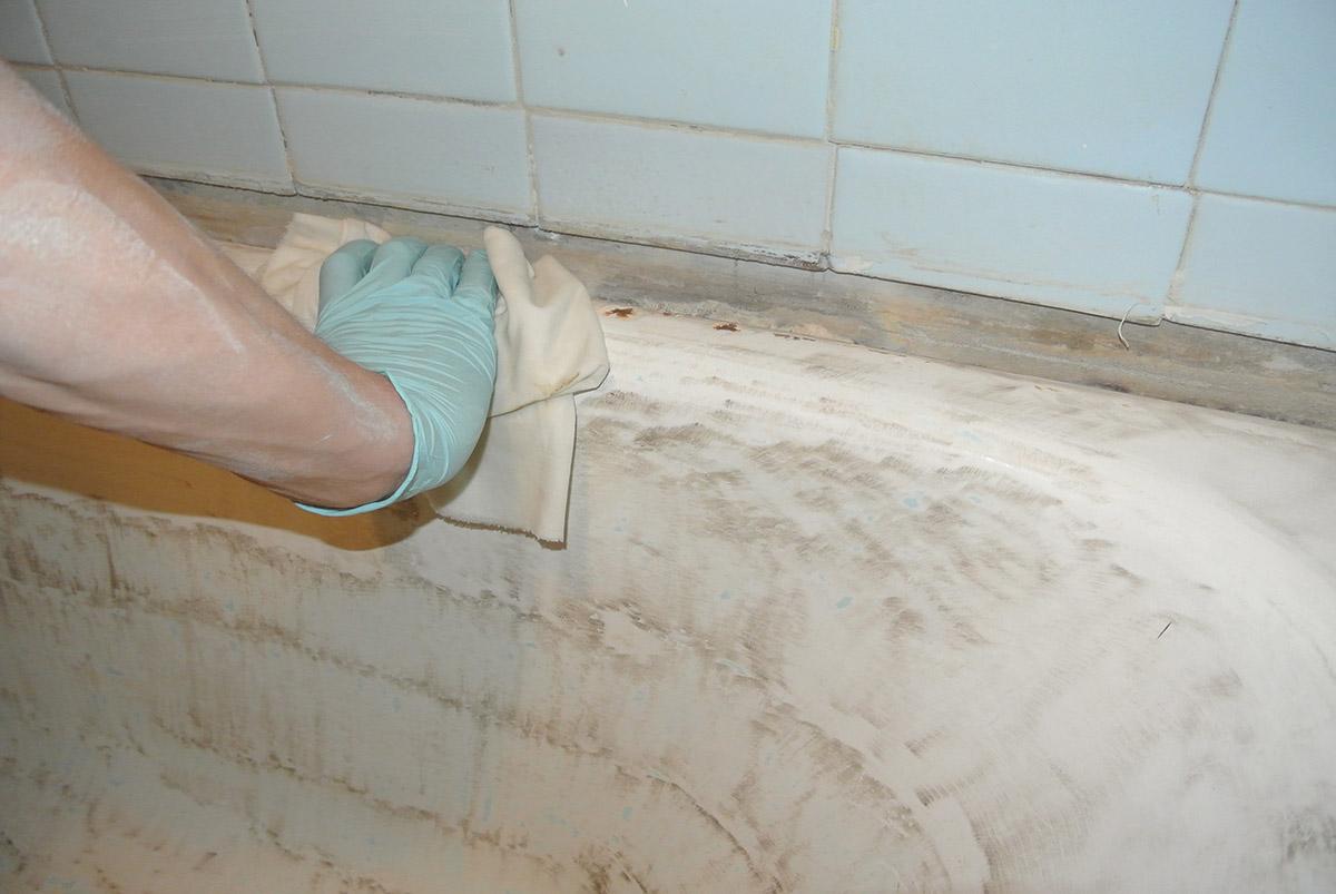 Обезжиривание ванны