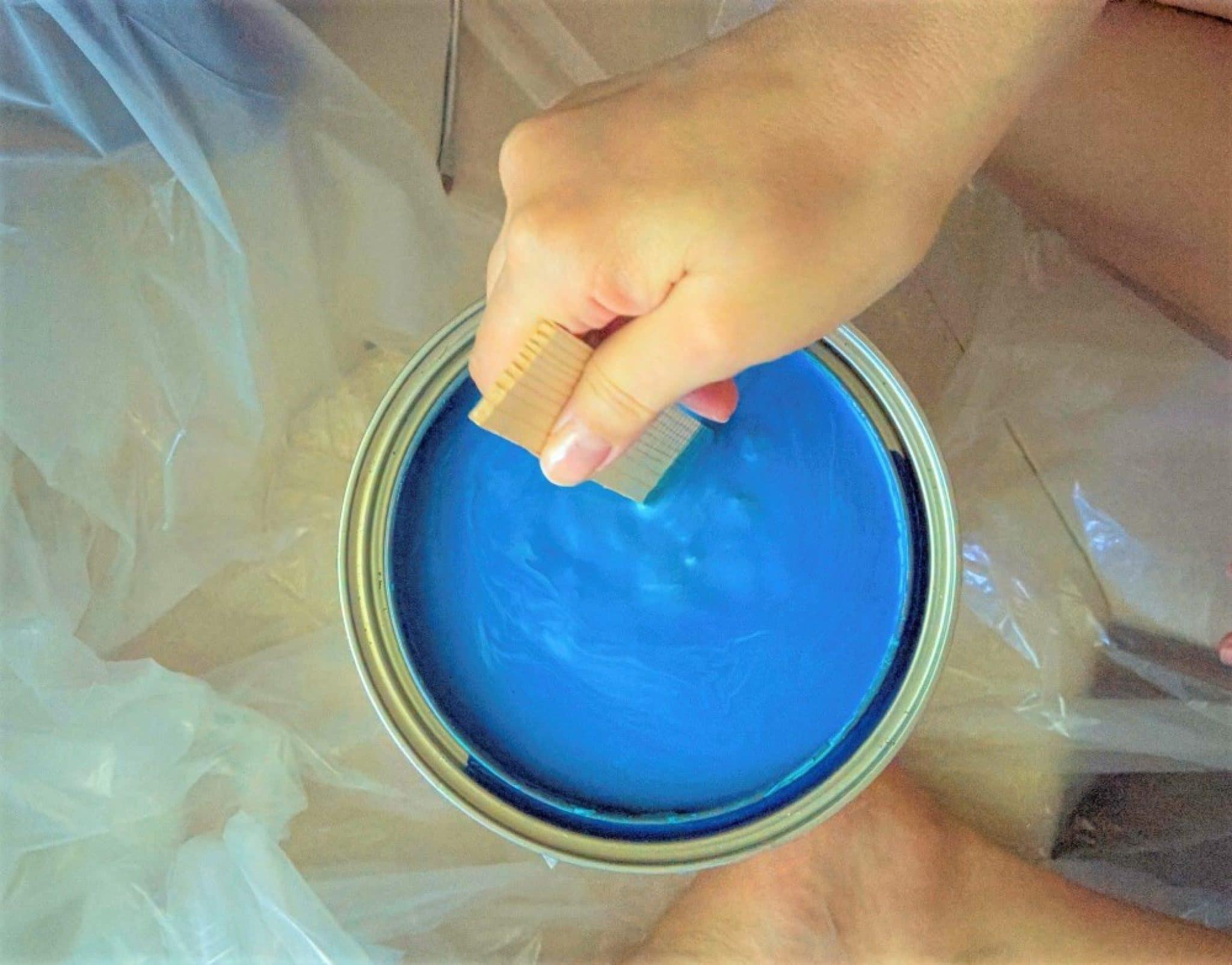 Разбавление краски