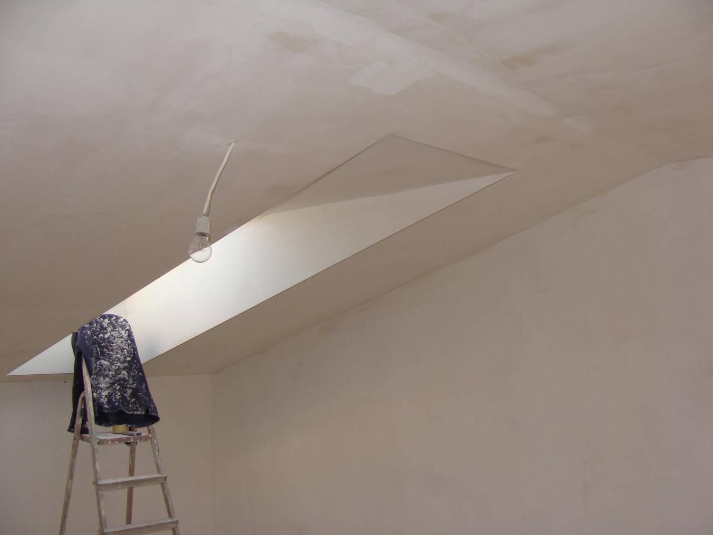 Фото шпаклеванного потолка