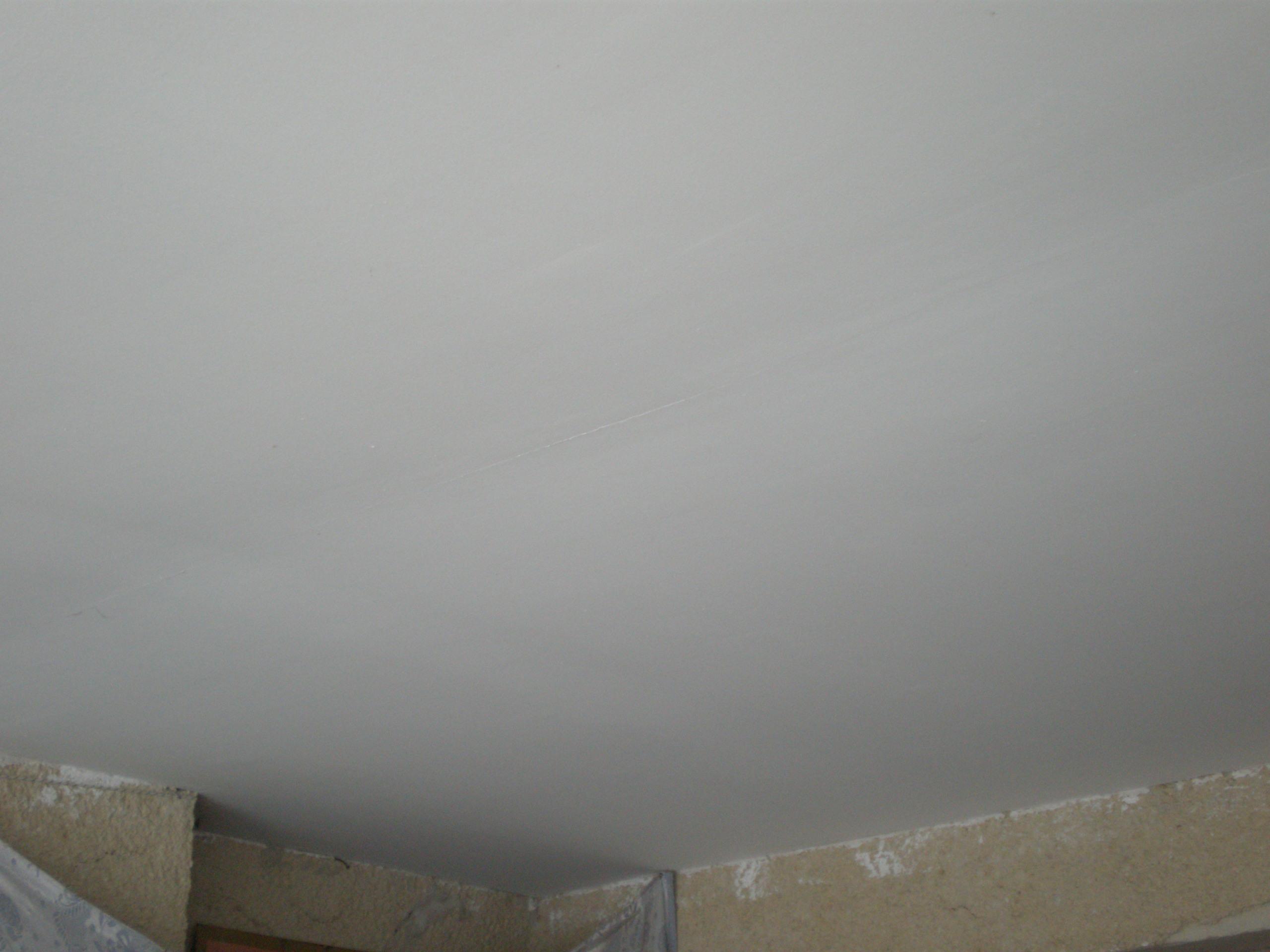 Шпаклевка на потолке