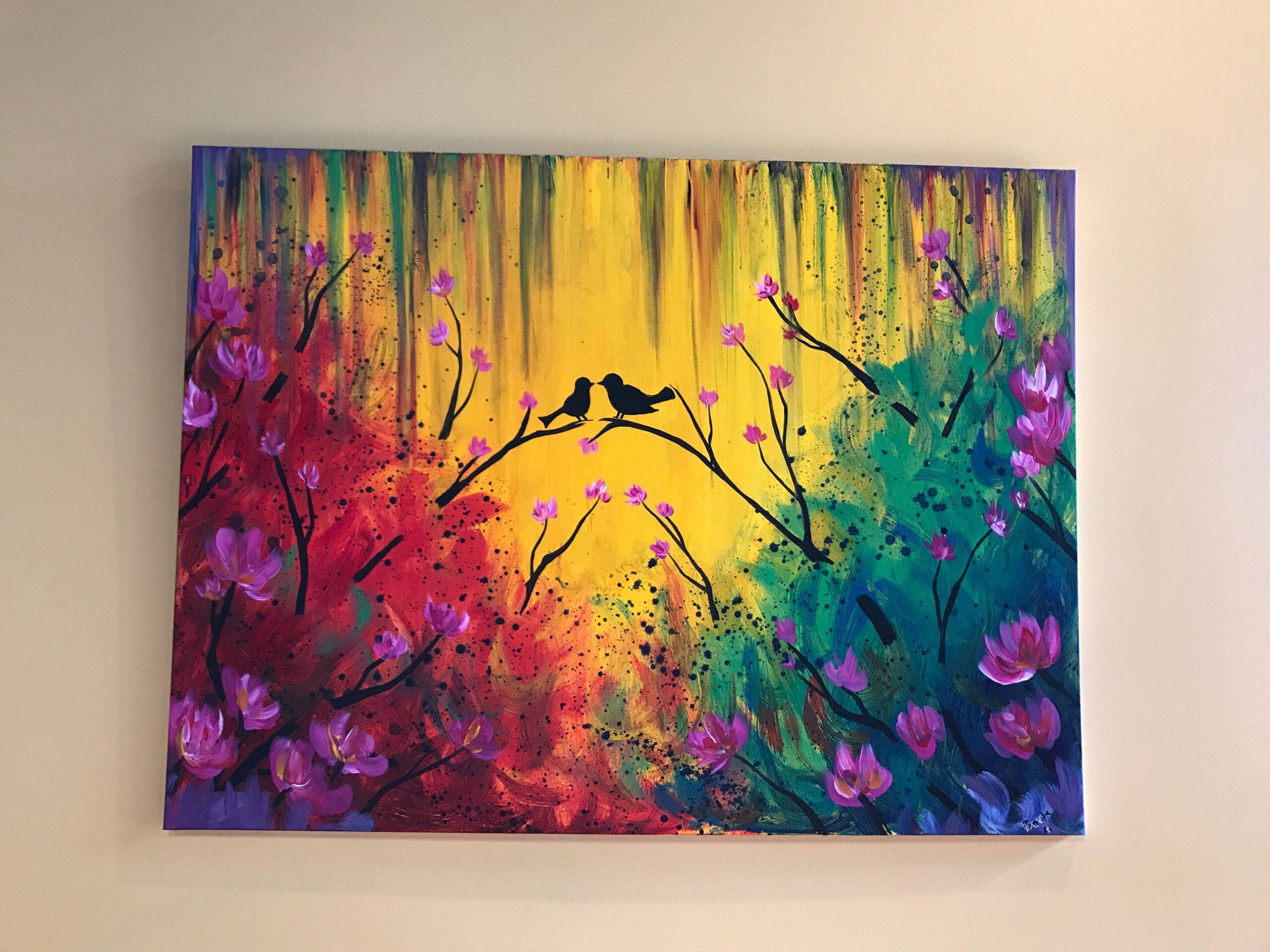 Акриловая краска на холсте