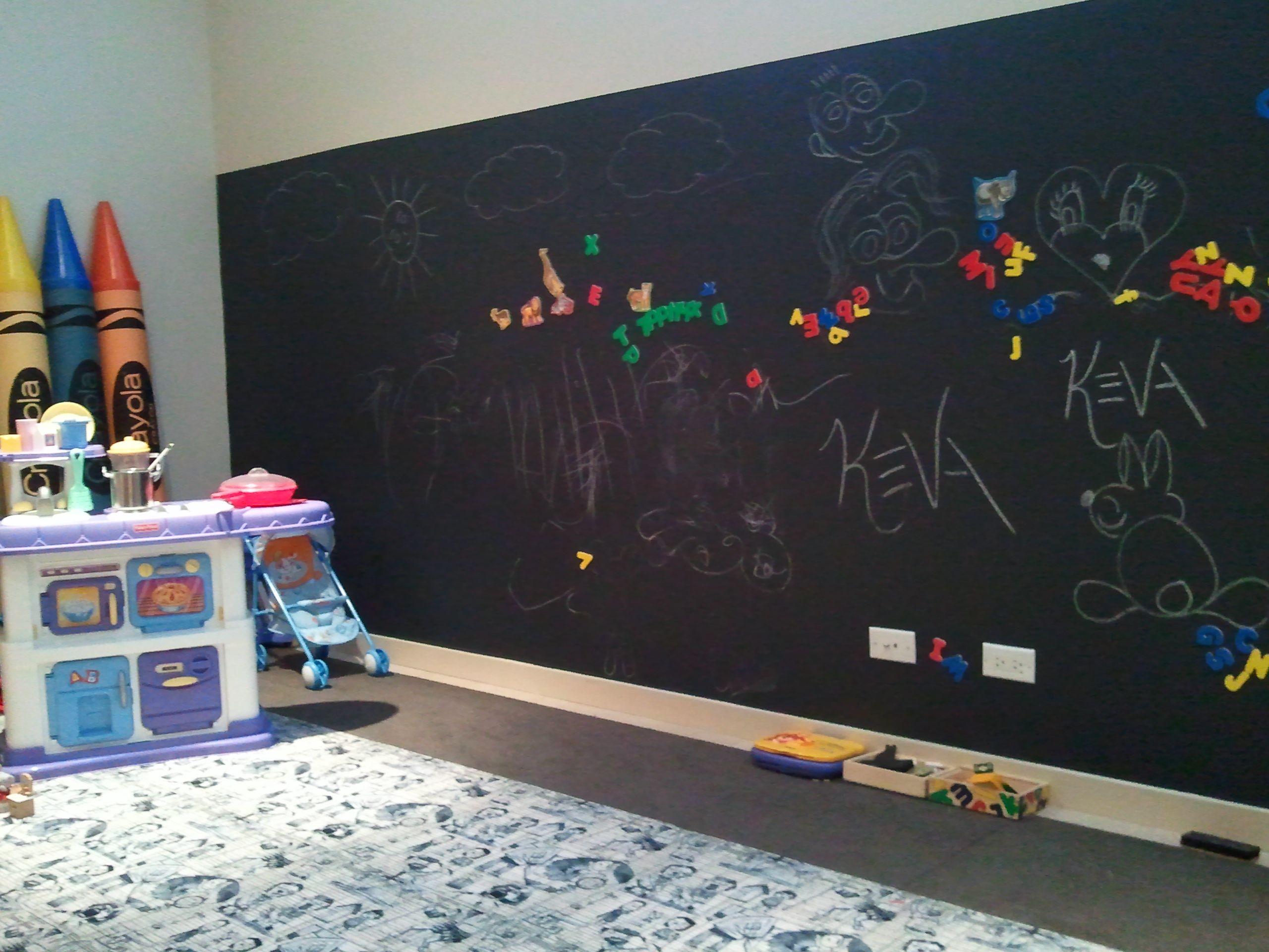 Грифельная стена в комнате