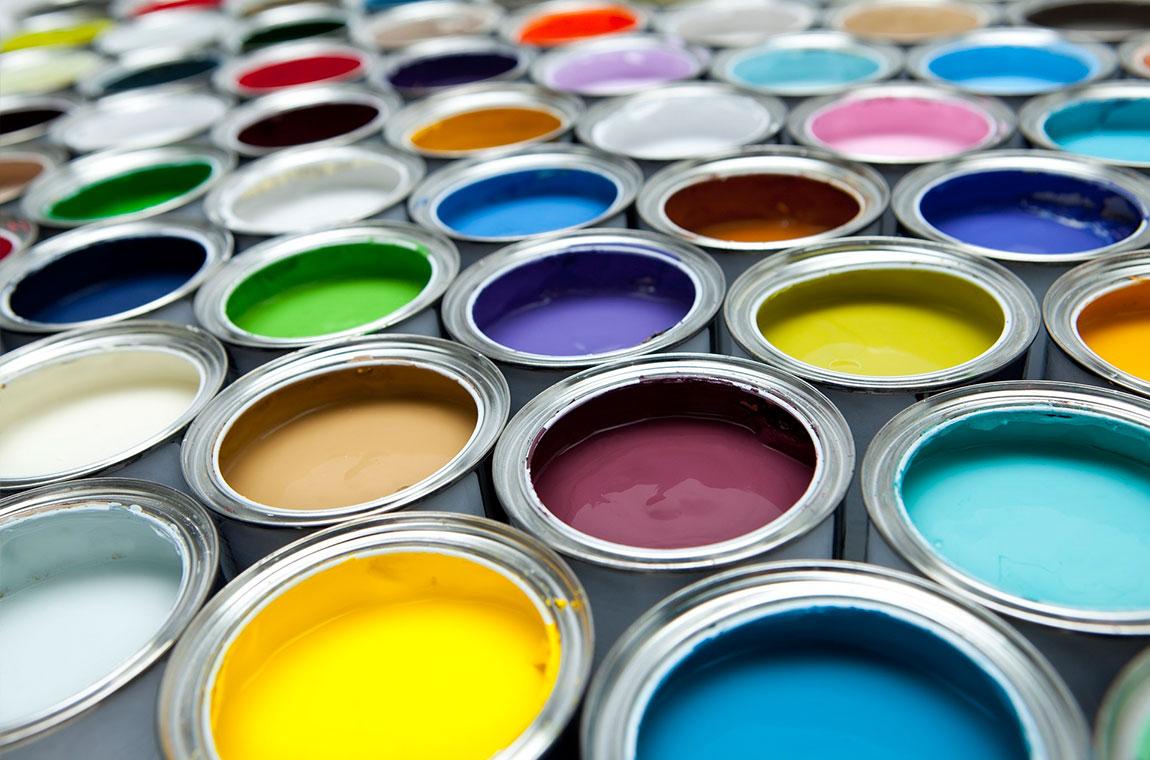 Краски в банках