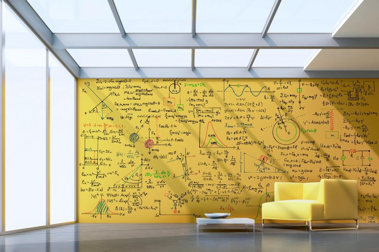 Рисунок на маркерной стене