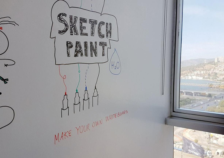 Стена с маркерной краской