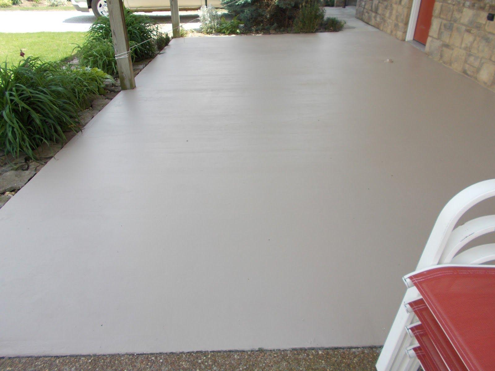 Покраска бетона на улице