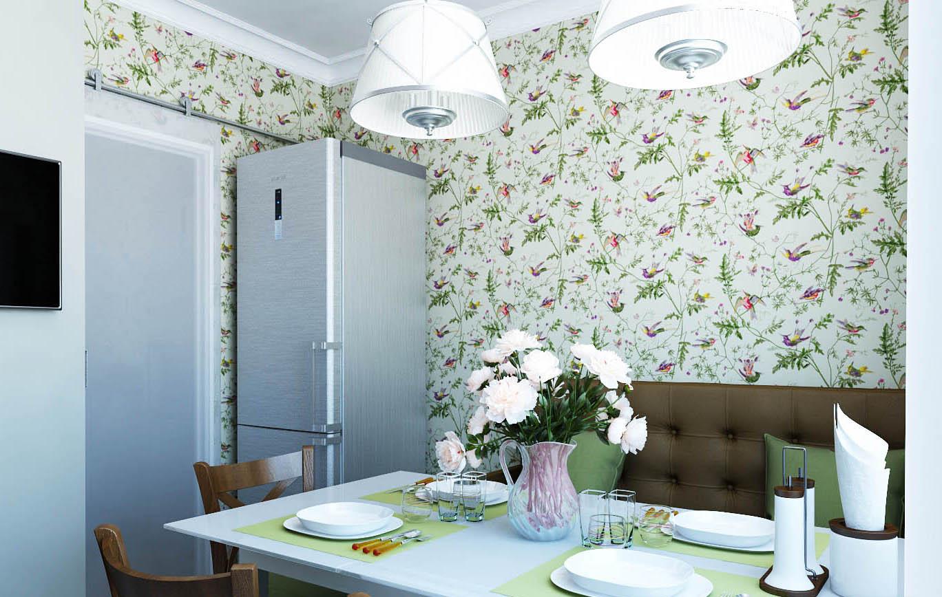 Растительный орнамент на кухне