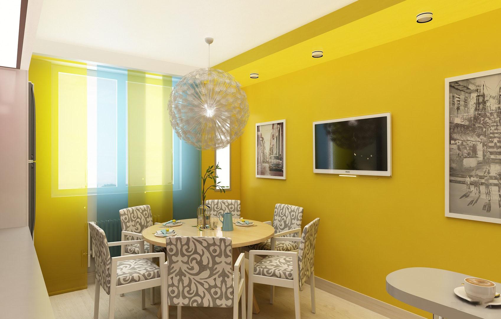 Фото желтой кухни