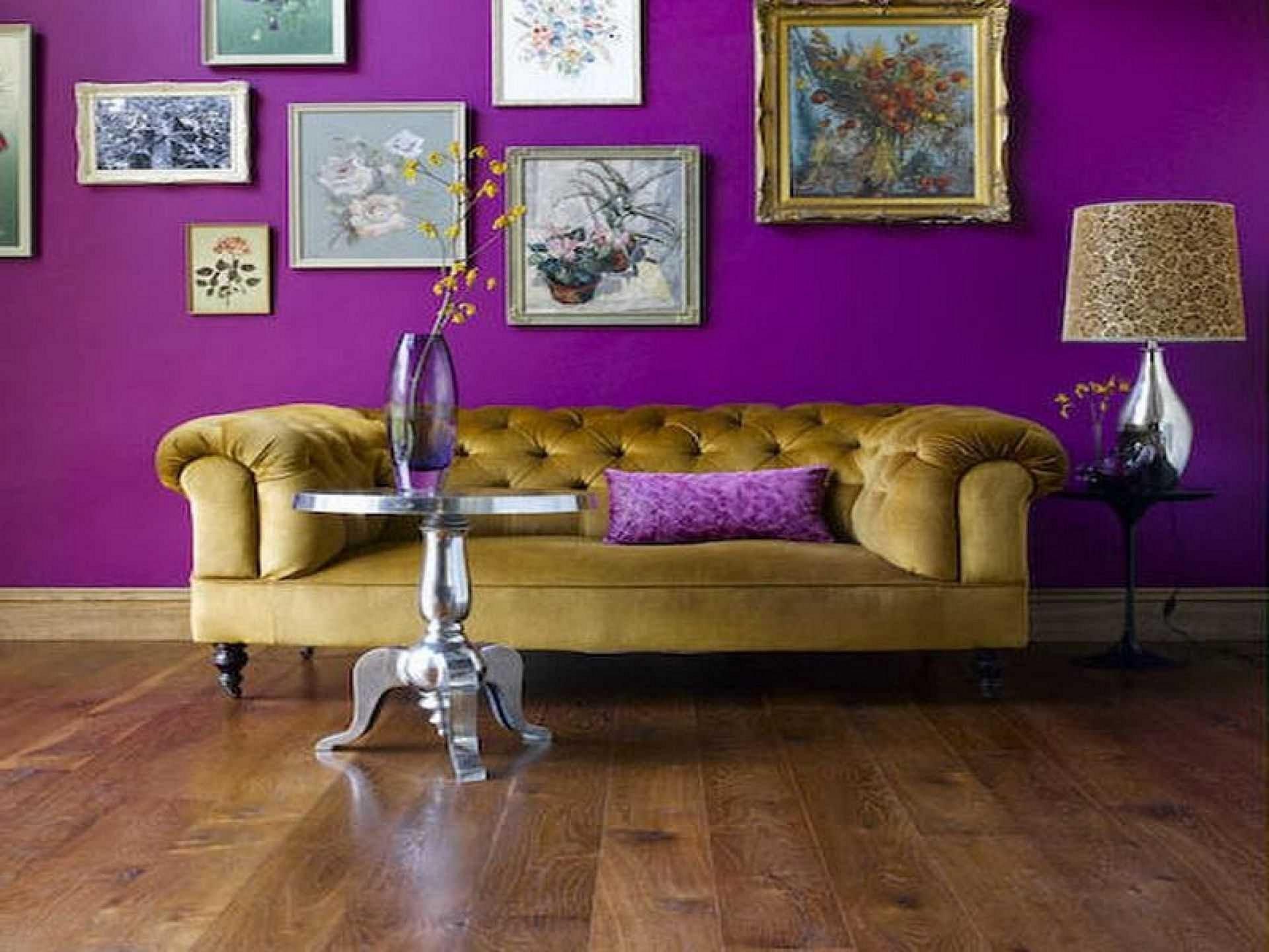 Фото фиолетовых стен