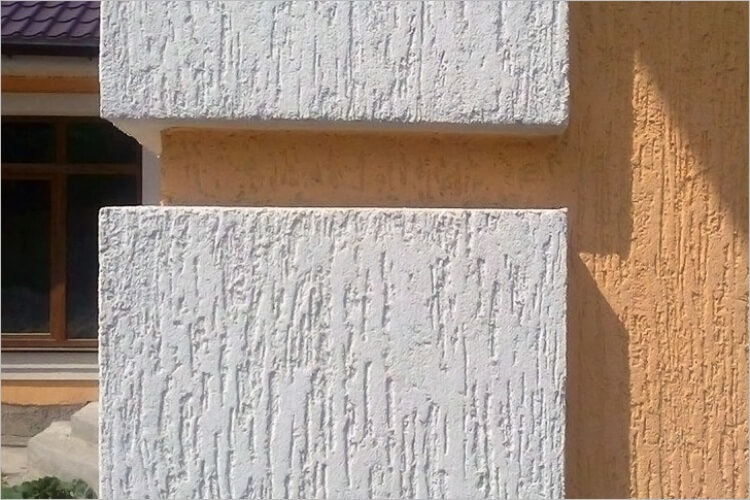 Штукатурка короед на фасаде