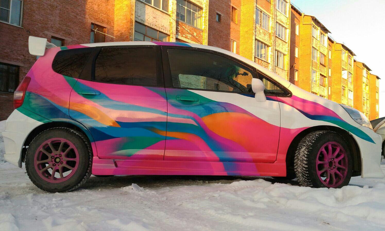 Граффити на машине