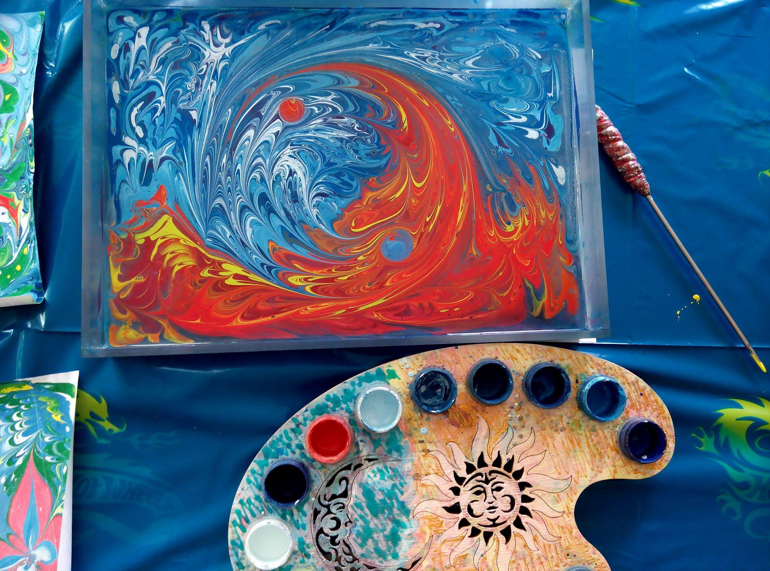 Картина с красками