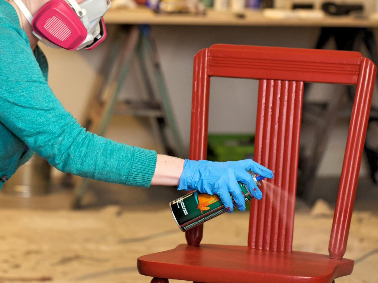Покраска мебели баллончиком