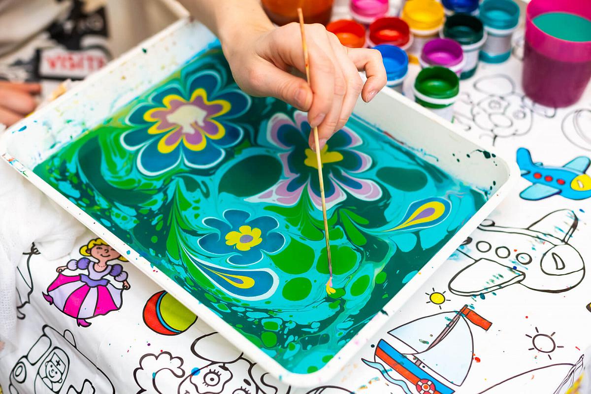 Рисование по воде Эбру