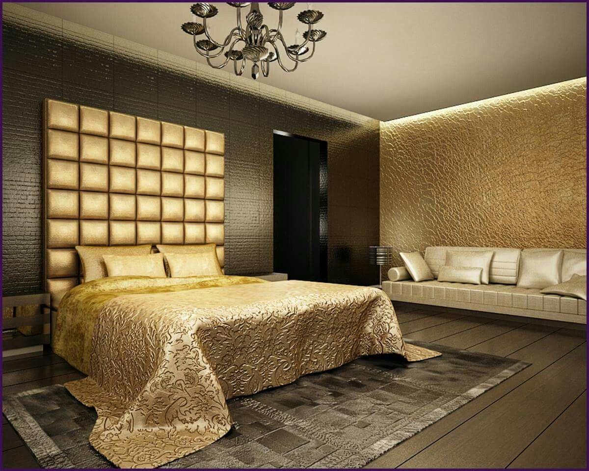 Бронзовый цвет в спальне