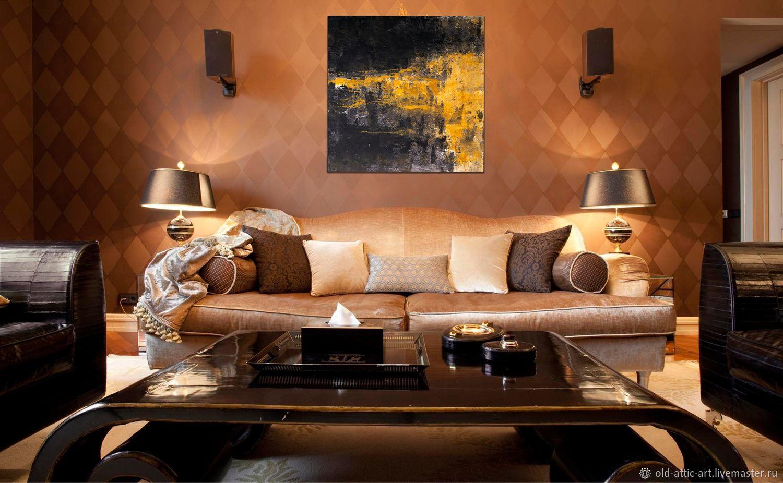 Бронзовый диван в интерьере