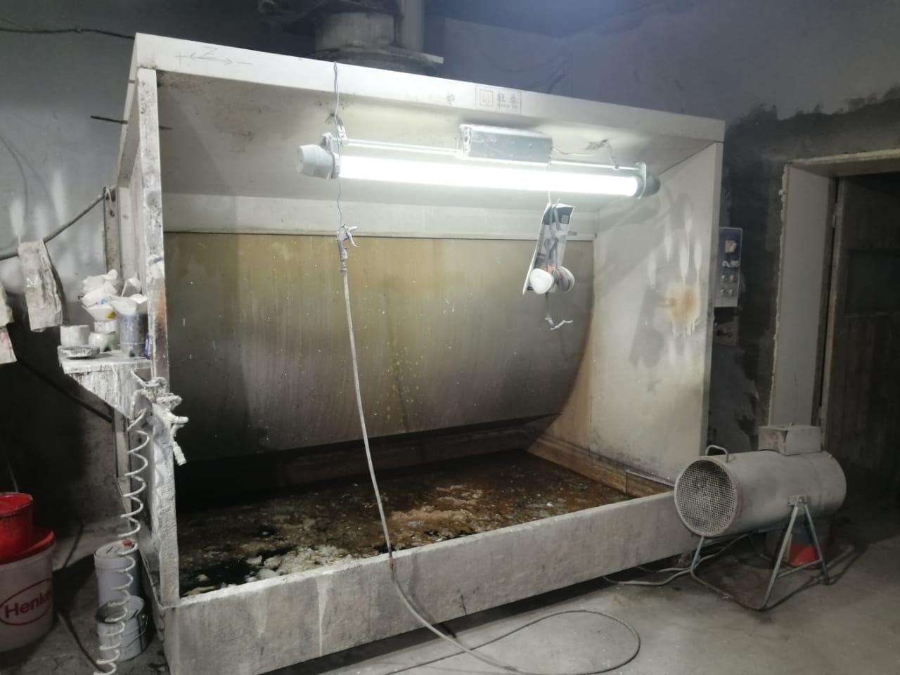 Малярная камера с водяной завесой