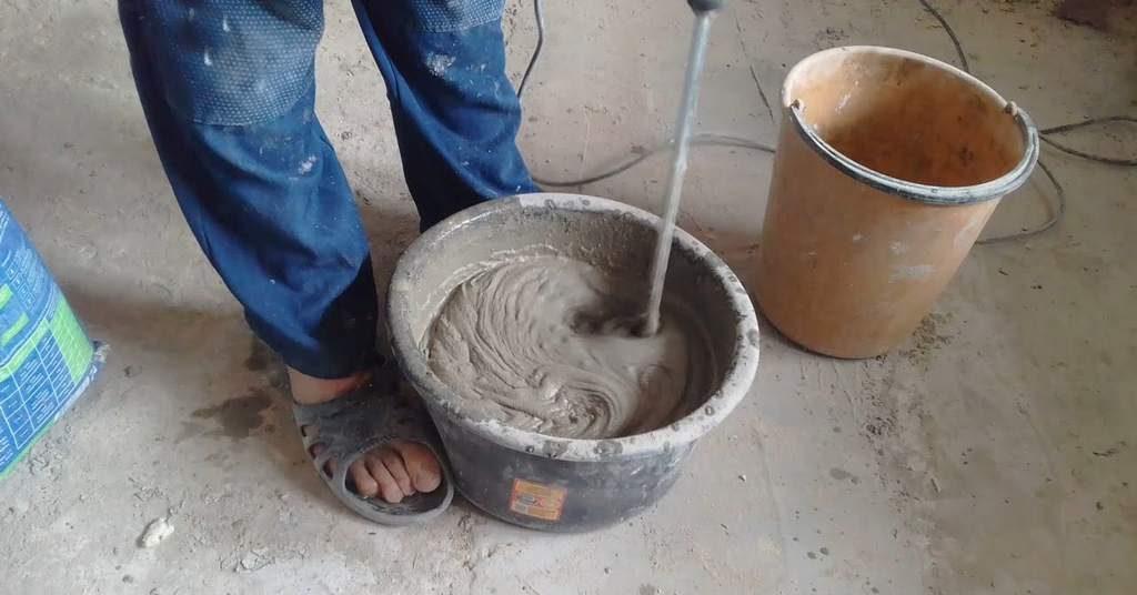 Приготовление шпаклевки