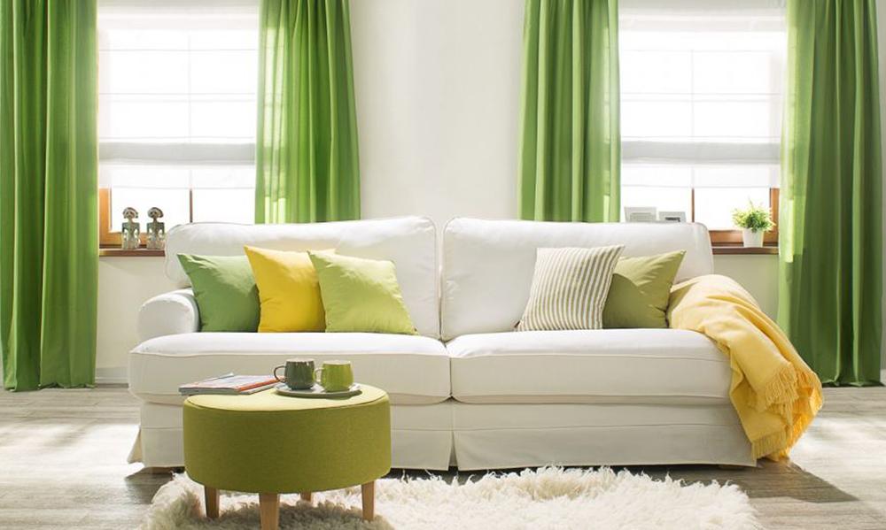 Желто-зеленый текстиль