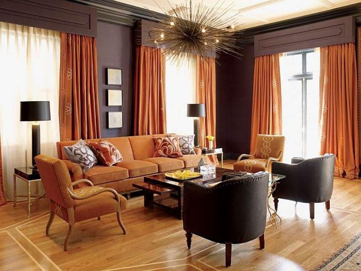 Интерьер с коричневым цветом