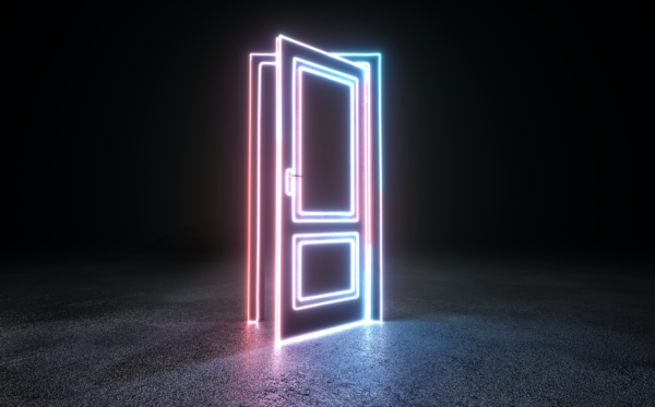 Неоновая дверь