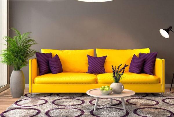 Неоновый диван