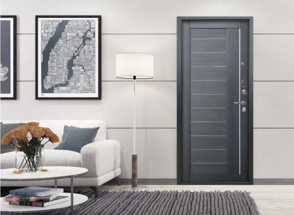Дверь цвета металлик