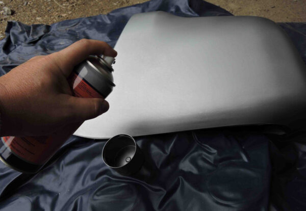 Окрашивание бампера баллончиком