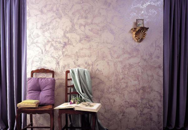 Перламутровая краска на стене