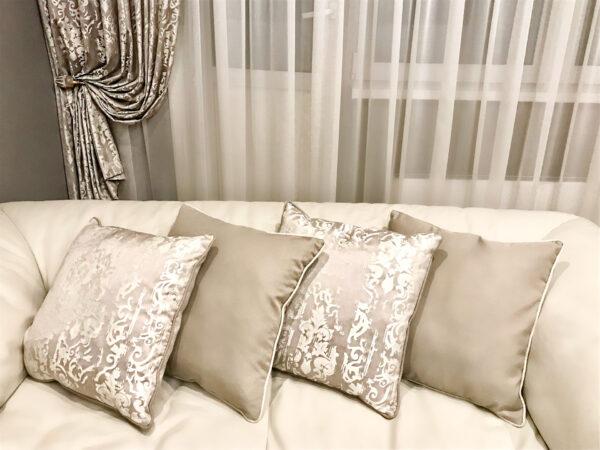 Текстиль цвета капучино