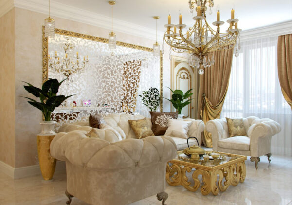 Золотистая гостиная